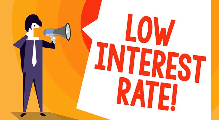 low interest rate image