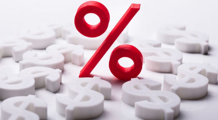 image of percentage and money