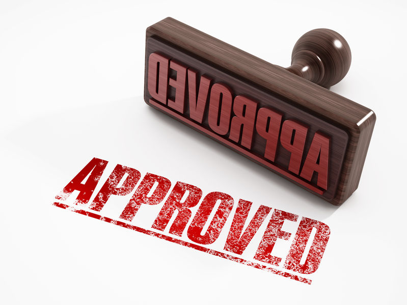 image of approval stamp